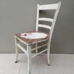 Oude sleetse stoel